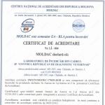 CERTIFICAT DE ACREDITARE  Nr. LÎ — 004