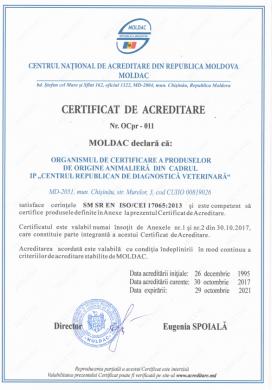 CERTIFICAT DE ACREDITARE  Nr. OCpr – 011