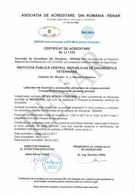 CERTIFICAT DE ACREDITARE Nr. L11125 (RENAR)