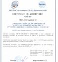 CERTIFICAT DE ACREDITARE  Nr. LÎ – 004 (nr. anterior 01 028)