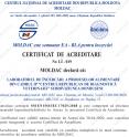 CERTIFICAT DE ACREDITARE  Nr. LÎ-019 SUBDIVIZIUNEA DONDUŞENI